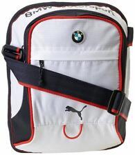 NEW PUMA PREMIUM BMW M MOTORSPORT PORTABLE MESSENGER SHOULDER BAG WHITE PMMO2012