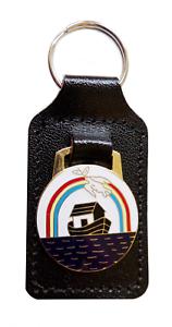 Fraternity-of-Royal-Ark-Mariner-Masonic-Black-Leather-Key-Fob