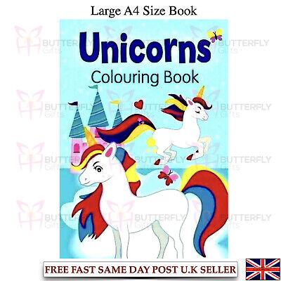 Large A4 Childrens Kids Unicorn Fun Colouring Book Mystical Magical Unicorns Trq 9781788240413 Ebay