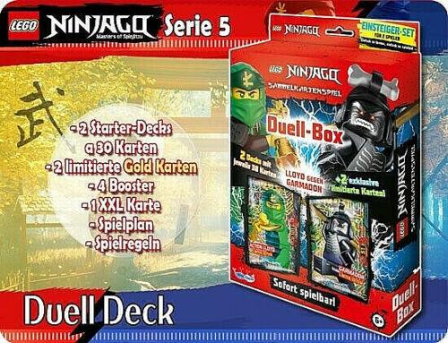 LEGO ® Ninjago série 5 Trading Card Cards DUEL DECK BOX le9 le19