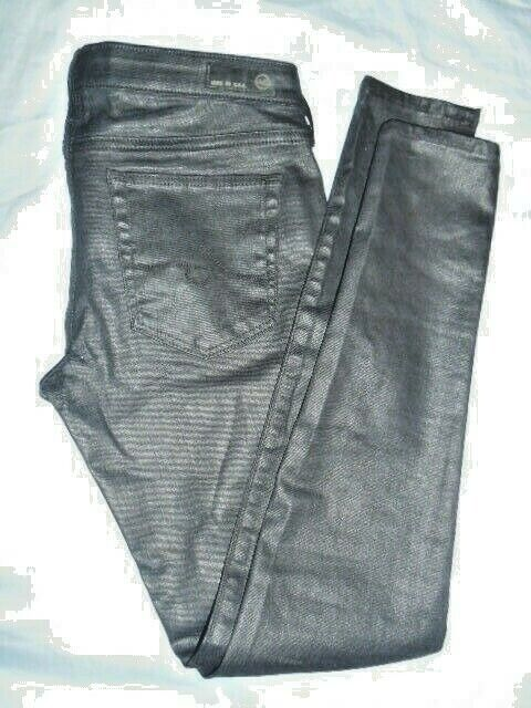 AG Adriano goldschmied Absolute Legging Extreme Skinny Jeans Coated Shadow 28