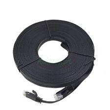 CAT6 15M 49ft RJ45 Ethernet Network LAN Internet Cable Flat UTP Patch Router BLK