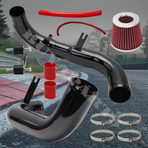 2006-2011 Honda Civic EX DX LX Black Cold Air Intake System Kit w//Red Air Filter
