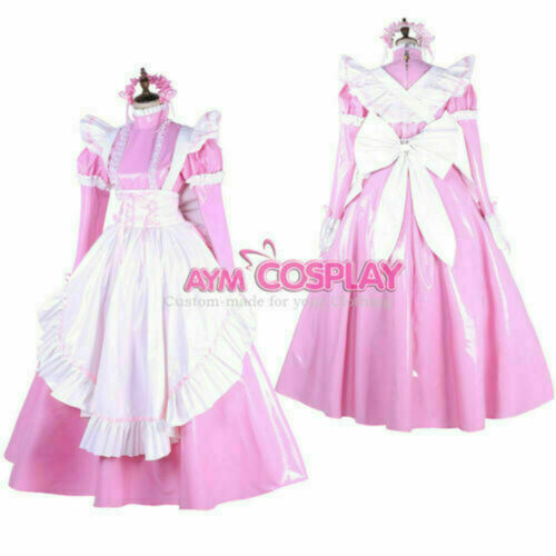 Details about  /sissy maid dress full long cross-dressers Tailor-made