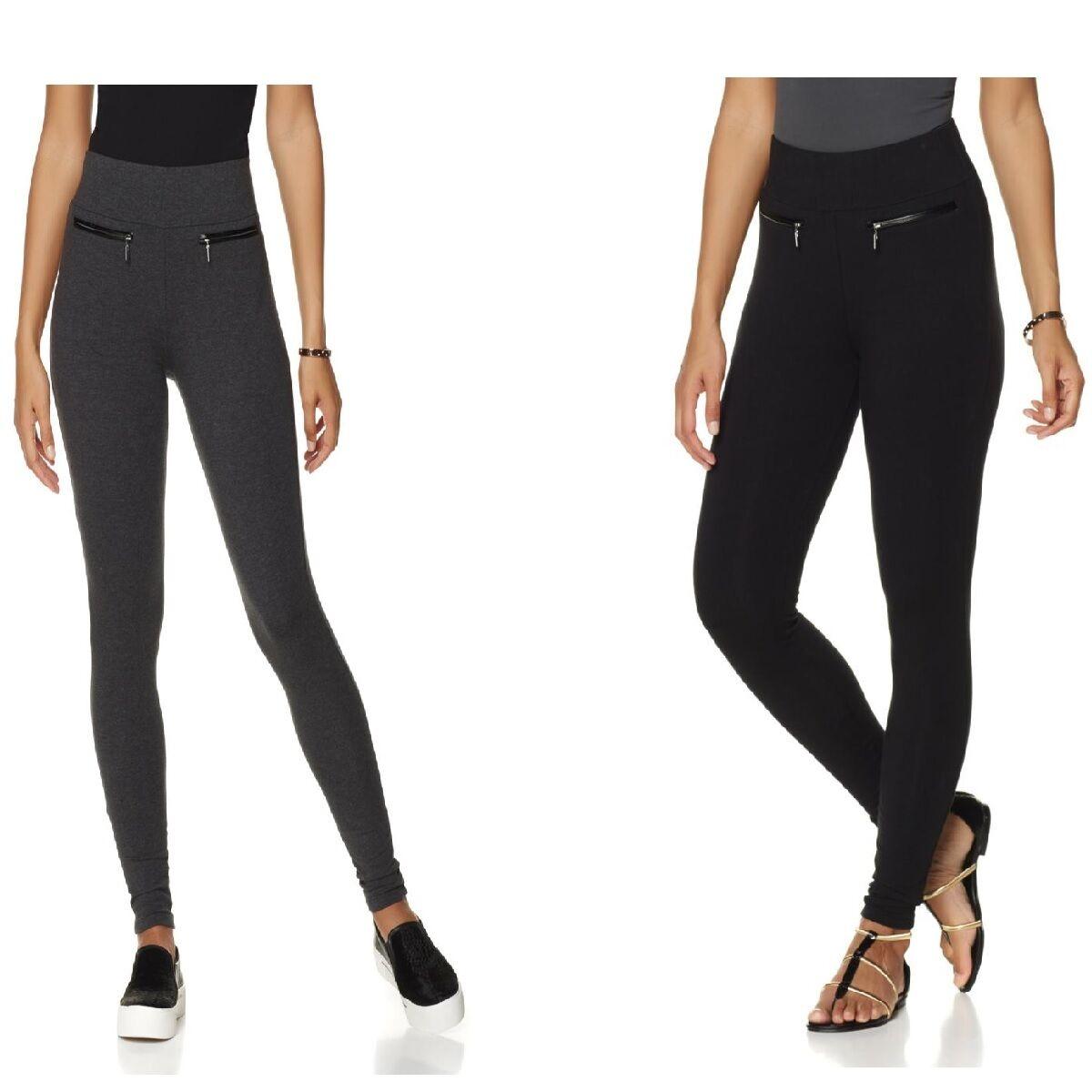 69 Samantha Brown Legging with Zipper 488584J (1X, Heather Charcoal)  39.90