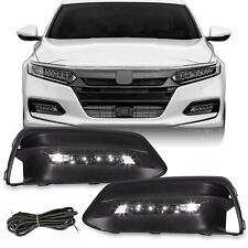 For 2018 2020 Honda Accord Sedan Led Bumper Fog Lights Lamps Bezel With Wiring