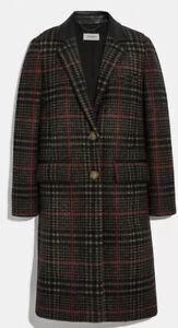 New-Coach-Tailored-Wool-Coat-Size-6-Women-Rugular-Price-950