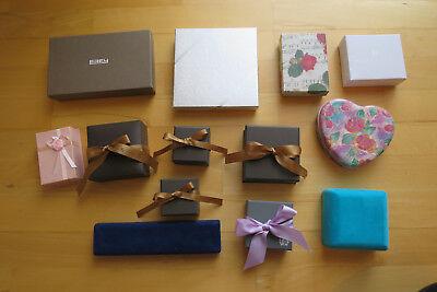 15x Schmucketuis Schleife Schmuckkästchen Etui Geschenkbox Box Schmuck Sammlung