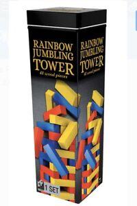 Wooden-Rainbow-Jumbling-Tower-48-Pieces-Cardinal-Free-Shipping