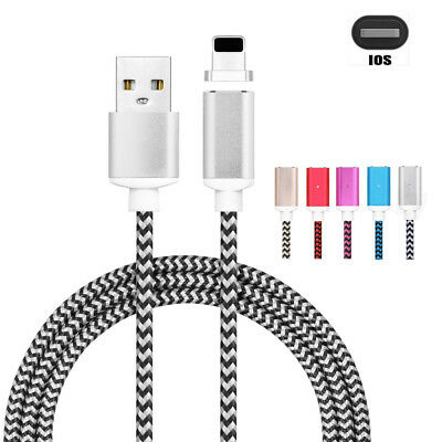 Magnetic Type-C Micro USB Fast Charging Cable Charger for Samsung iPhone 6/7 Lot