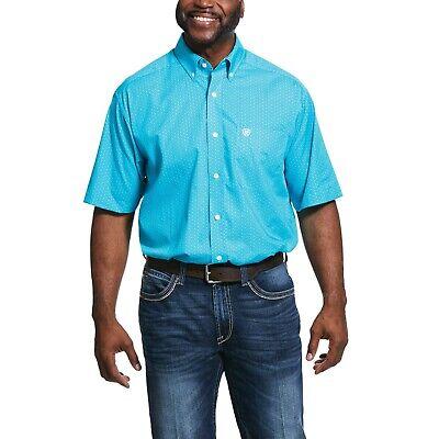 Ariat Men/'s White Winkle Free Button Down Shirt