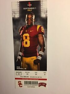 save off 7bfe0 783a6 Details about USC TROJANS VS UNLV REBELS SEPTEMBER 1, 2018 TICKET STUB