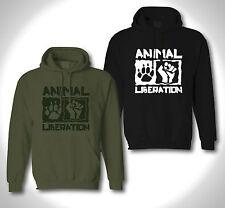 SCRATCH -Girls Hoodie ANIMAL LIBERATION Vegen Vegetarian Tierschutz PETA Punk