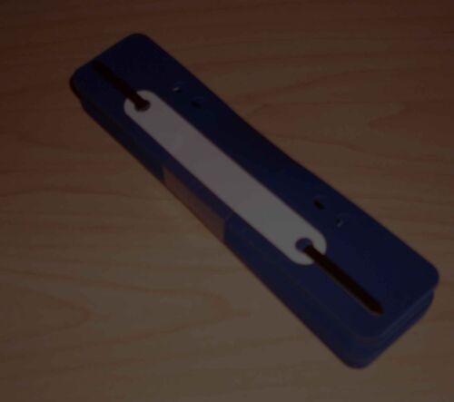 100 Heftstreifen blau Heftrücken Heftschienen Abheften Abheftstreifen 35 x 150