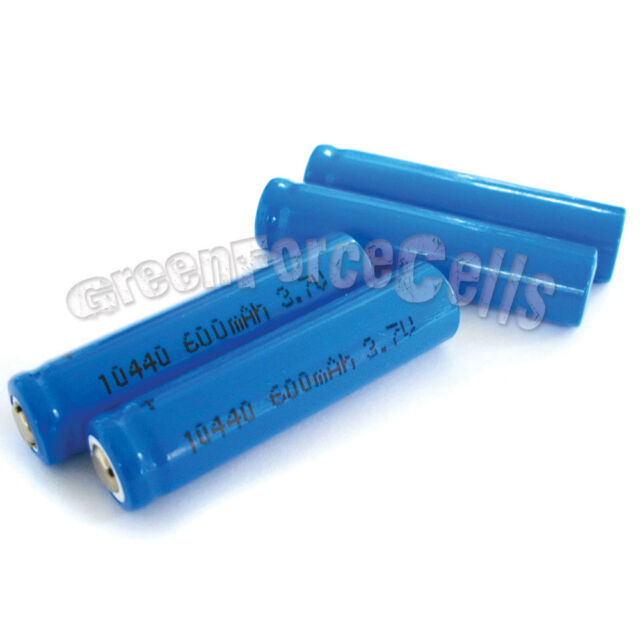 2 pcs 3.7V 10440 AAA 3A 600mAh Rechargeable Battery Cell US Stock