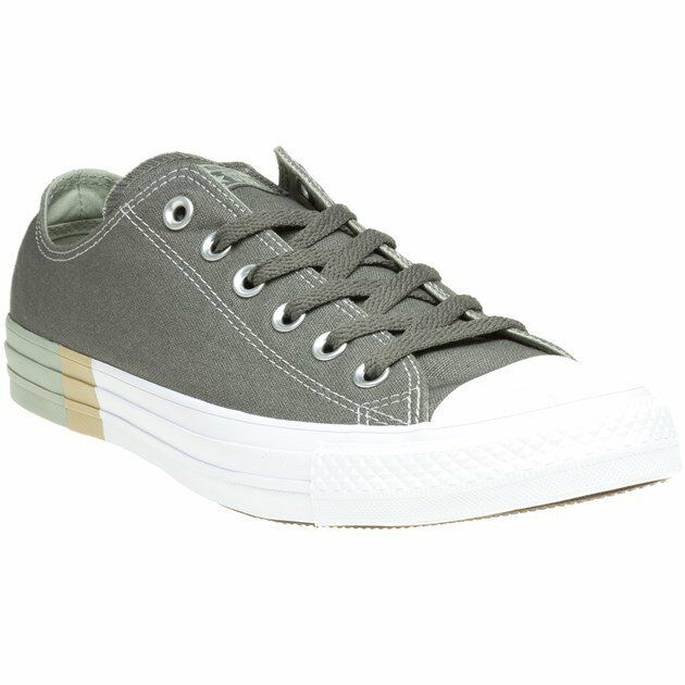 New MENS CONVERSE GREEN KHAKI ALL STAR OX CANVAS Sneakers