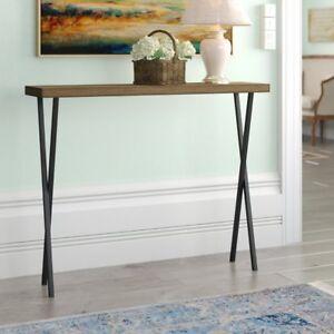Hallway Furniture Oak Wooden Top Black