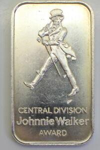Scarce-1-oz-999-Fine-Silver-034-JOHNNIE-WALKER-034-Artbar-JM-1-Minted-in-1985