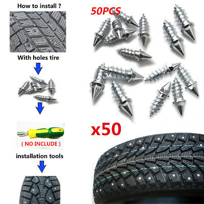 9mm Snow Tire Screw 100 Pcs Delaman Anti-Slip Screw Stud Tyre Snow Chains Tire Spikes Trim For Motorcycle Car Truck