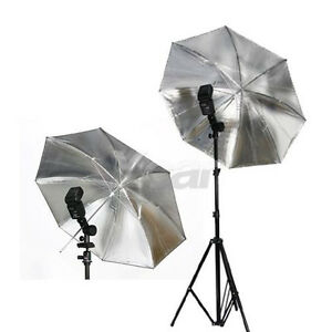 New 33'' 33 inch Studio Soft Flash Light Reflector Umbrella silver black 83cm