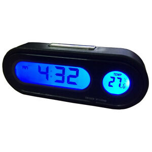 2 In 1 Digital Car Clock Thermometer Temperature Auto Led Backlight