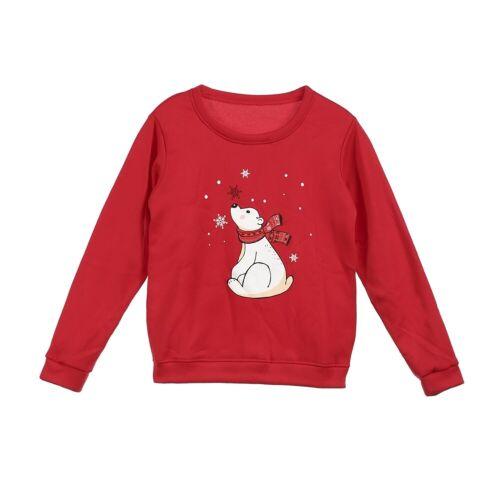 UK Christmas Kid Mom Dad Pullover Sweatshirt Jumper Family Matching Casual Top