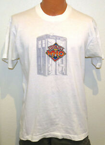 vtg-DOCTOR-WHO-t-shirt-MED-fit-80s-90s-soft-thin-tv-show-dr