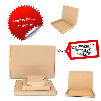 Postal Cardboard Boxes Small Mailing Shipping Carton PIP Brown Fast Delivery