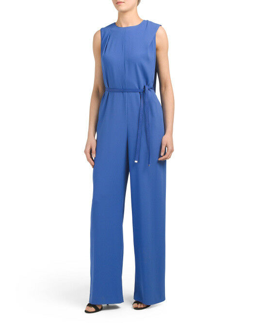 NWT ESCADA Triketa Jumpsuit bluee Size 38 Sold out