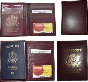 100% De Qualité Nouveauté Usa Passeport Cuir Étui Intégré Crédit Atm Étui Carte Id Support Bn