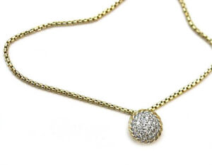 David yurman new 18k gold chatelaine 7mm pave diamond pendant image is loading david yurman new 18k gold chatelaine 7mm pave aloadofball Images