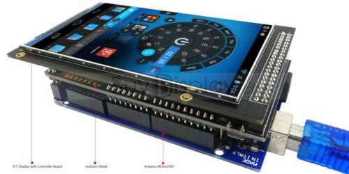 """480x800 Arduino TFT Touch Screen Shield with Example and Library 4/"""" 3.97/"""""""