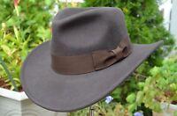 Classic Wool Indiana Jones Cowboy Fedora Safari Wide Brim Western Hat 2 Colors