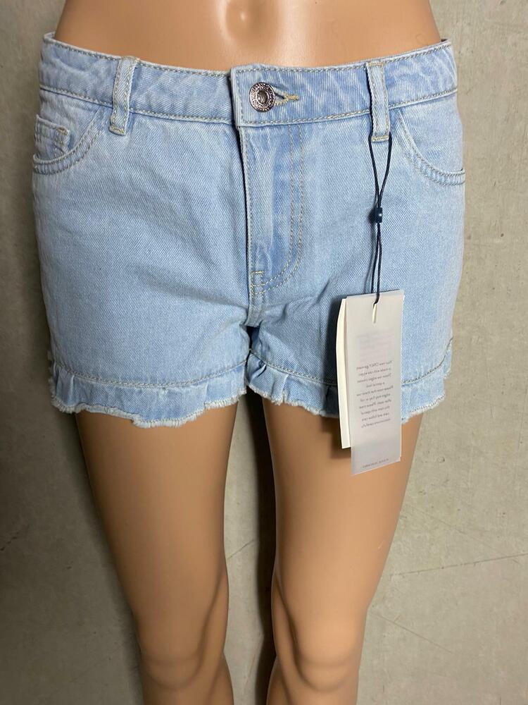 Clair Shorts Short En Jeans Shorty Carmen En Bleu - Neuf Gr. 28 1501j