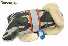 Top Paw Camo Reflective Stripe Coat Faux Fur Lined Winter Jacket Dog Size L, $30