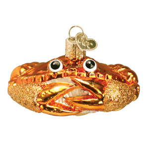 034-Crab-Louie-034-12022-X-Old-World-Christmas-Glass-Ornament-w-OWC-Box