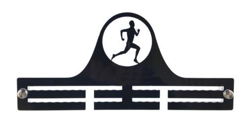 Runner Running Marathon Mens Male Boys Sport Acrylic Medal Holder Hanger Display