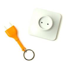 Useful Home Decoration Design Unplug Keyring  Plug Socket Keychain