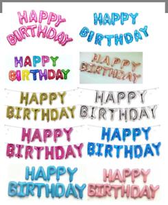 GRANDI-HAPPY-BIRTHDAY-Self-Gonfiare-Palloncini-Banner-Bandierine-Festa-Decorazione-UK