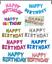 GRANDI-HAPPY-BIRTHDAY-Self-Gonfiare-Palloncini-Banner-Bandierine-Festa-Decorazione-UK miniatura 1