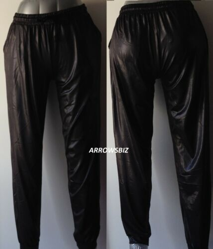 Look 20 Leg Uk Stretch décontracté Jog Pants Leggings 6 Shine mouillé Taille rwg1qr