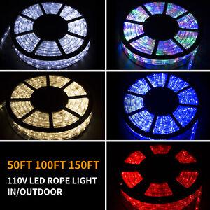 50-100-150FT-LED-Rope-Light-Strip-Indoor-Outdoor-Waterproof-Decorative-Lights