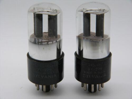 Gemessenes Paar Sylvania VT229 //6SL7GT Matched pair of Sylvania VT229//6SL7GT