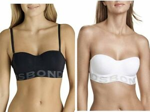 4265803242a6d BONDS LADIES WOMENS TUBE BRA TUBEBRA STRAPLESS WHITE BLACK UNDERWIRE ...