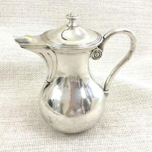 Christofle-Plaque-Argent-Cruche-Pichet-a-Couvercle-Pot-Original-Francais-Ancien