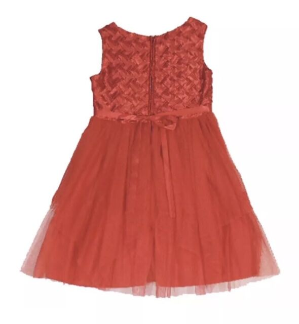 78ba2269bf6c Chantilly Place Little Girls Red Basket Weave Holiday Dress Christmas 18 MO  for sale online | eBay