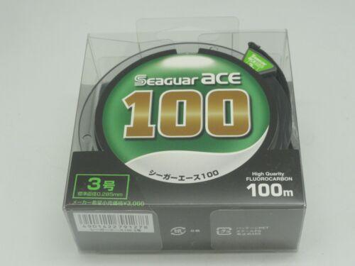 SEAGUAR Green Label Ace 100/% Fluorocarbone Chef Japon nº 3 U.S 12 LB environ 5.44 kg 100m//110yds