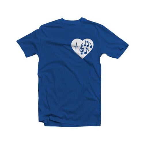 Music Notes Heartbeat T-Shirt Music is Life Singer Dancer Musician Symbol