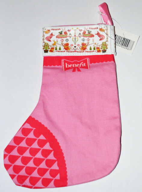318044b561c Benefit Beauty to Go Pink and Red Small Christmas Stocking BNIP 8.5