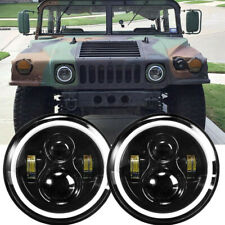 Pair 7 Led Headlights For Hummer Humvee M998 Lmtv Bmy M1045 M1078 M925 M35a2 2 Fits Mustang